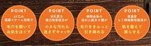 とてたま洗ひ肌の4つのポイント