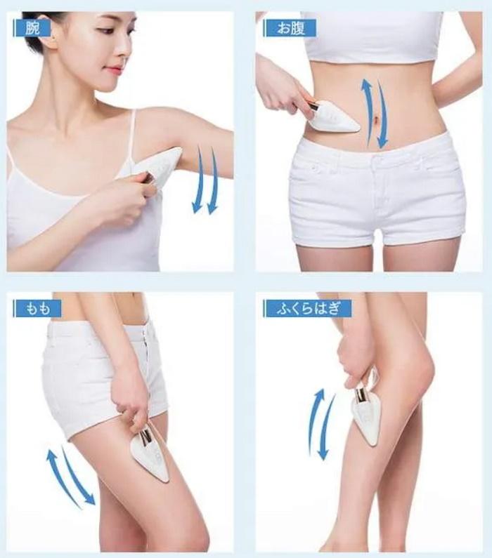 dpcスキンアイロン 身体への使い方